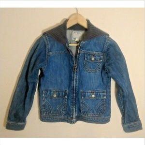 Old Navy womens jean denim jacket blue XL zip